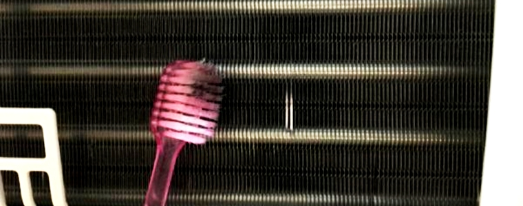 歯ブラシで磨く