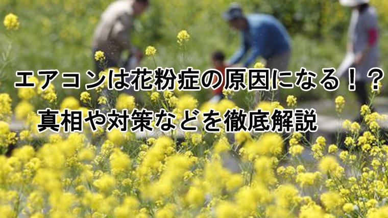 エアコンは花粉症の原因になる?