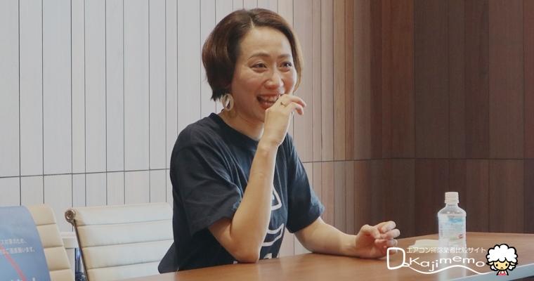 くらしのマーケット取材:笑顔の小田さん