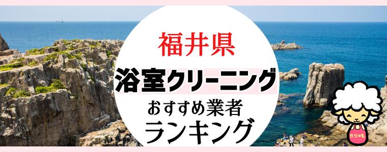 福井県のお風呂掃除・浴室クリーニング業者おすすめランキング